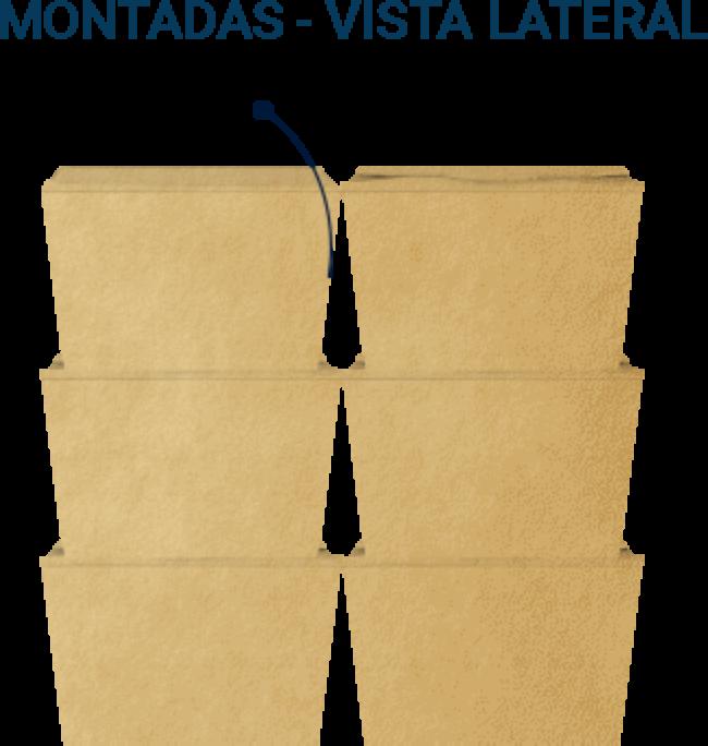 Montadas - Vista lateral